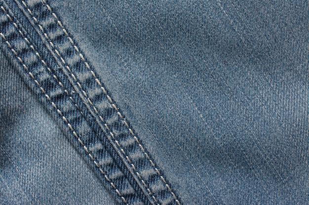 Textura de jeans, tecido de algodão. fundo de matéria têxtil