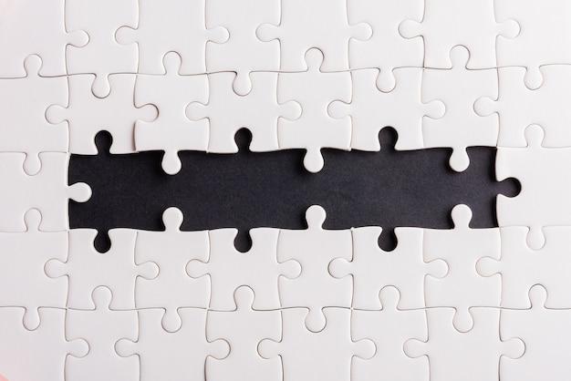 Textura de jogo de quebra-cabeça incompleta ou faltando