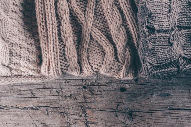 Textura de lã tricô