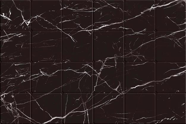 Textura de ladrilho de mármore preto rachado