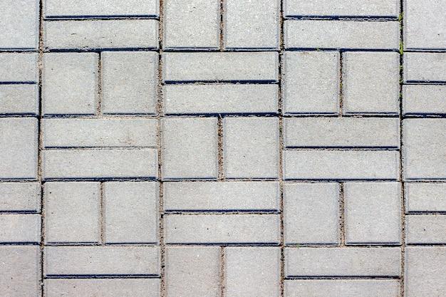 Textura de lajes de pavimentação. arranjo das ruas e praças da cidade