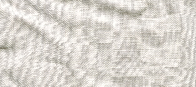 Textura de lona branca. fundo de linho branco natural