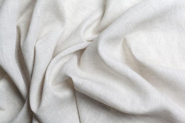 Textura de lona de linho branco