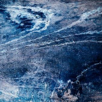 Textura de madeira áspera pintada de azul