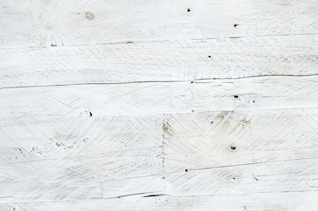 Textura de madeira branca envelhecida com fundo vista superior rústico