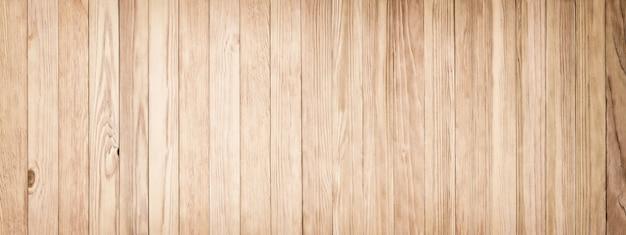 Textura de madeira clara, fundo panorâmico de placas antigas