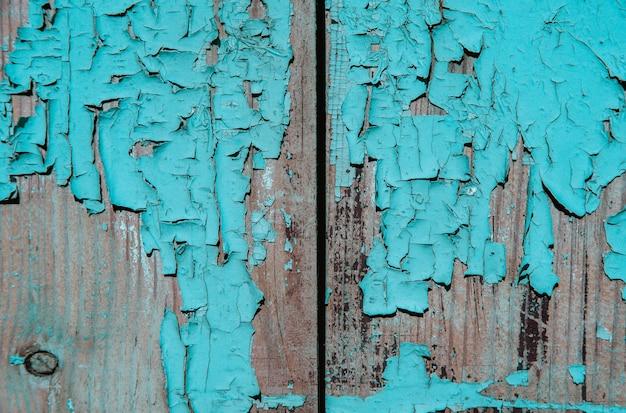 Textura de madeira com pintura descascada
