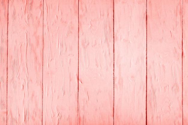 Textura de madeira em tons de cor coral viva