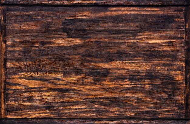 Textura de madeira escura, moldura de madeira