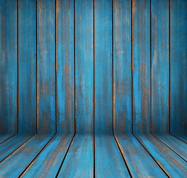 Textura de madeira lavada azul. painéis antigos de fundo