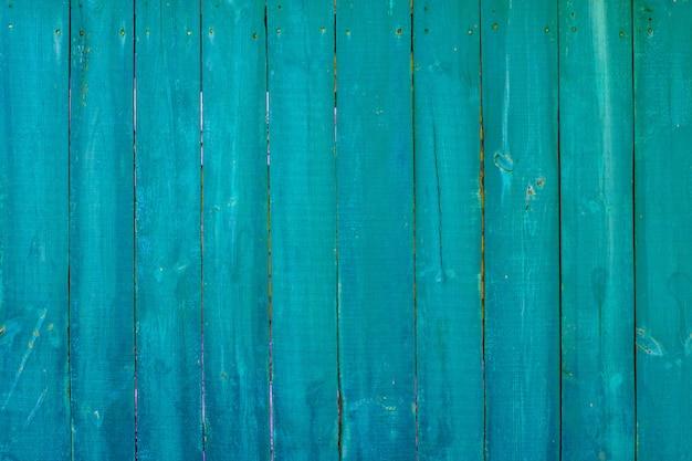 Textura de madeira pintada azul e turquesa vintage