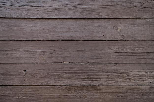 Textura de madeira pintada de marrom da parede de madeira para plano de fundo e textura.