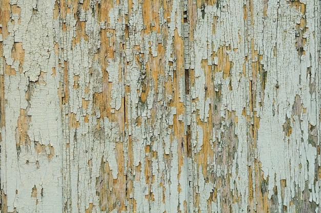 Textura de madeira pintada velha