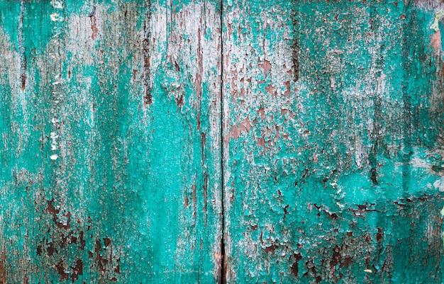 Textura de madeira velha pintada de verde