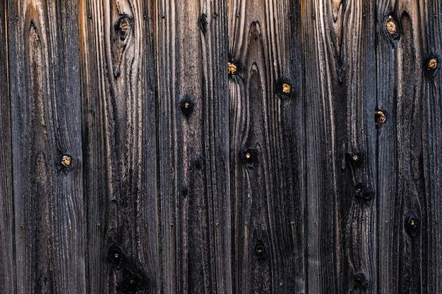 Textura de madeira velha preta escura