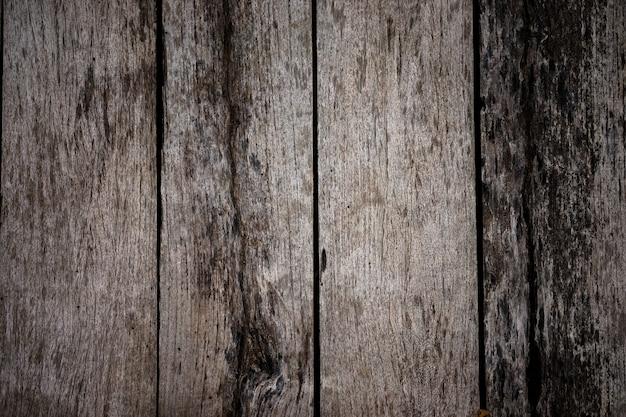 Textura de madeira velha vintage padrão de madeira marrom escuro para o fundo