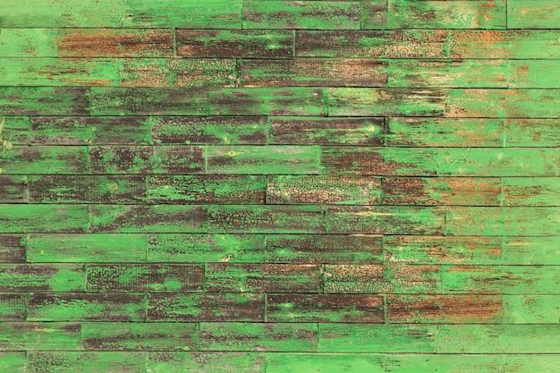 Textura de madeira verde gasto abstrata