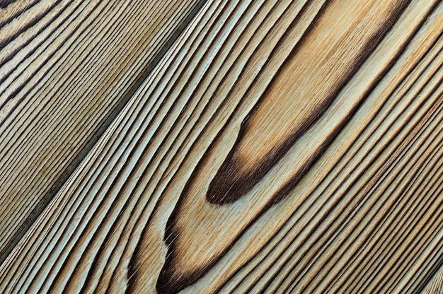 Textura de madeira vintage com nós. vista superior do close up para o plano de fundo ou obras de arte.
