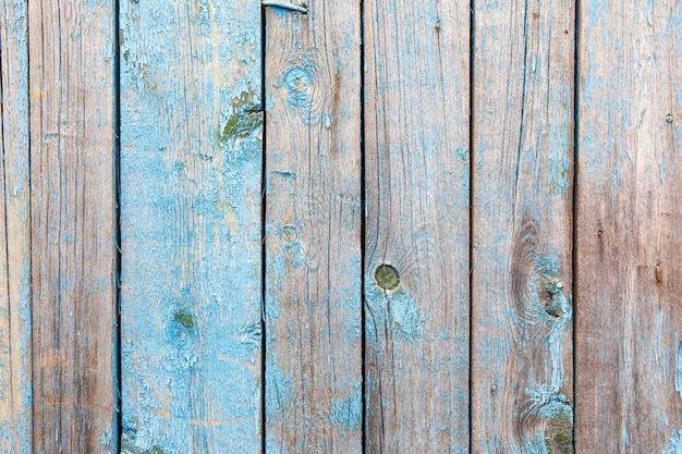 Textura de madeira vintage velha de cor azul
