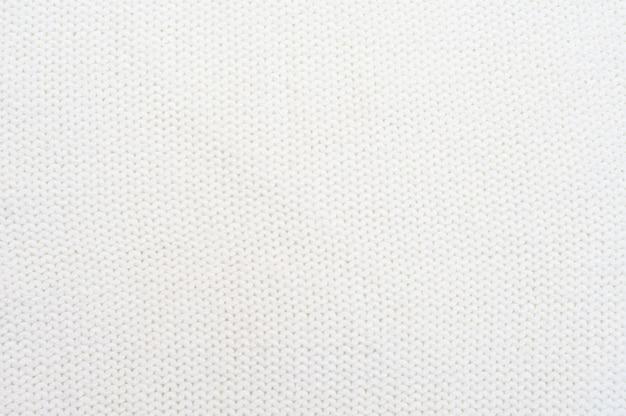 Textura de malha branca fundo branco de tricô