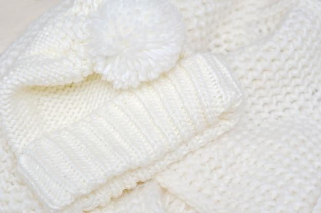 Textura de malha de lã. fundo de tecido bege.