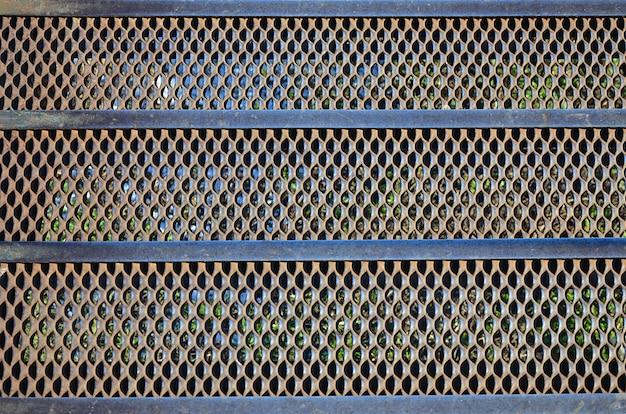 Textura de malha de metal enferrujado