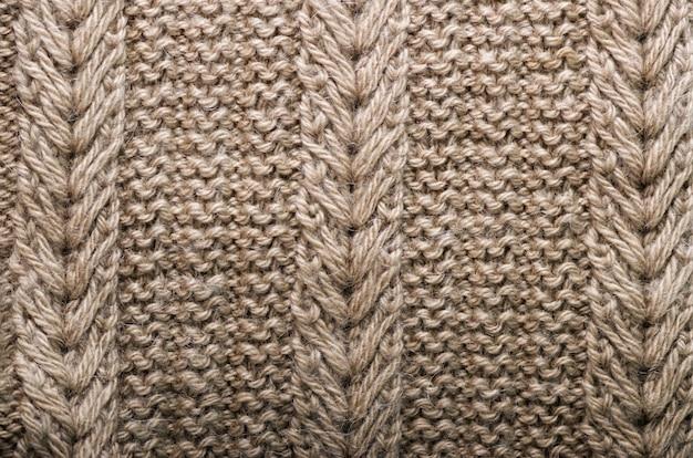 Textura de malha. tecido padrão feito de lã.