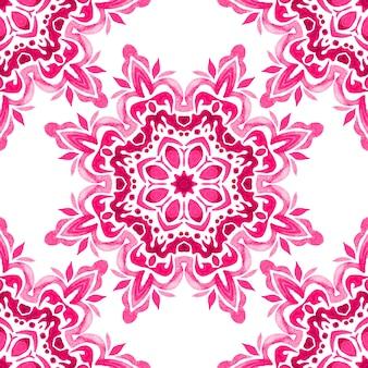 Textura de mandala de luxo elegante para tecido e papel de parede aguarela de flores em estrela