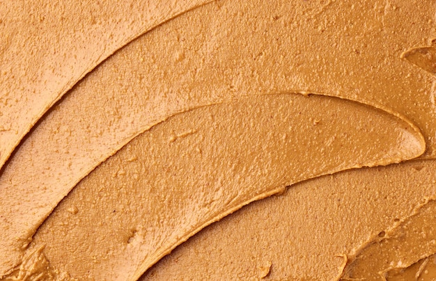Textura de manteiga de amendoim, vista superior