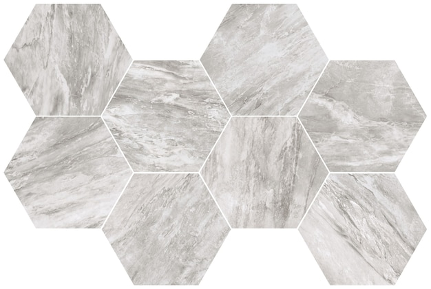 Textura de mármore cinza hexagonal