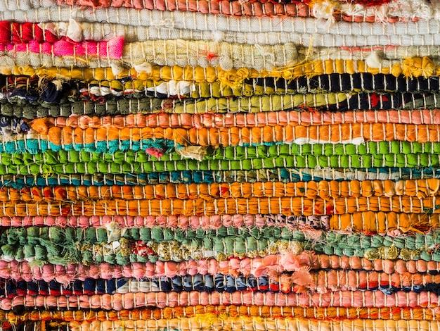 Textura de material artesanal colorido