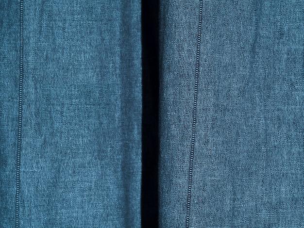 Textura de material azul close-up