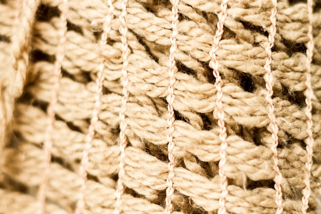Textura de material de tecido de juta close-up