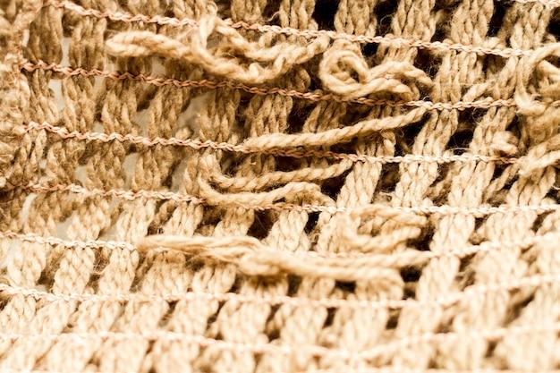 Textura de material de tecido hessian close-up extremo