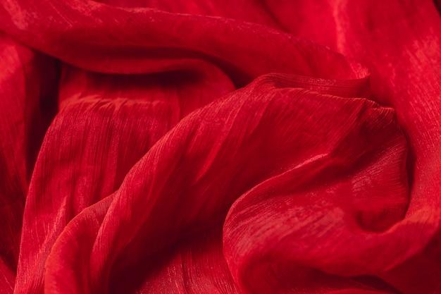 Textura de material liso elegante tecido vermelho
