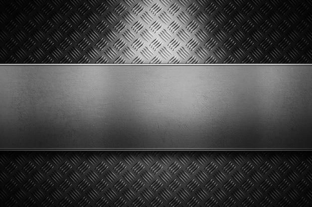 Textura de metal abstrato moderno diamante cinza, folha com luz direcional