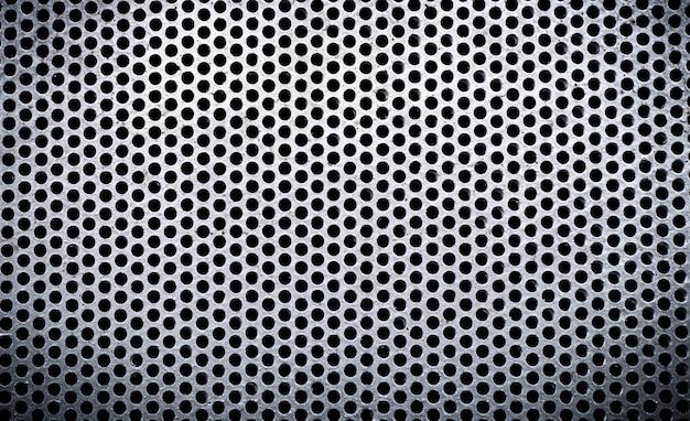 Textura de metal branco folha de metal perfurada