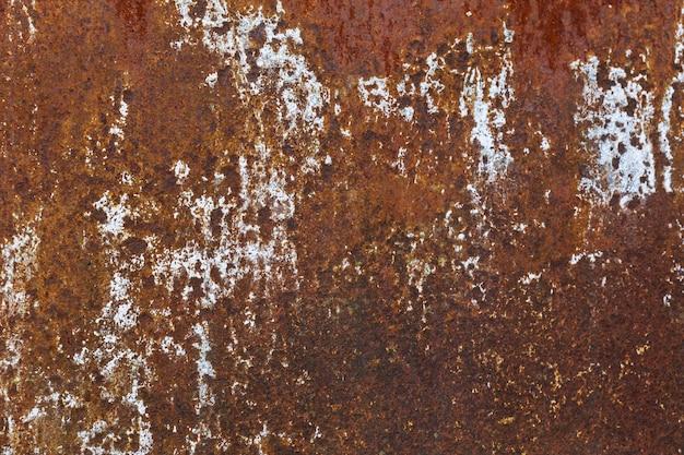 Textura de metal com tinta azul e ferrugem