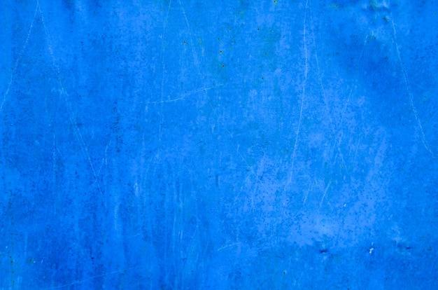 Textura de metal enferrujada azul. fundo grunge
