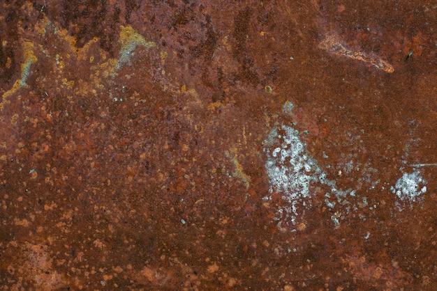 Textura de metal enferrujada com fundo de corrosão
