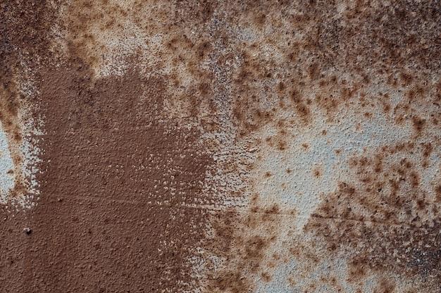 Textura de metal enferrujado marrom
