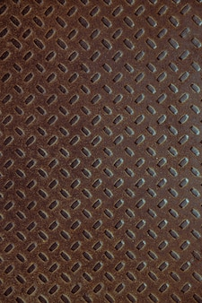 Textura de metal marrom velha abstrata com padrão