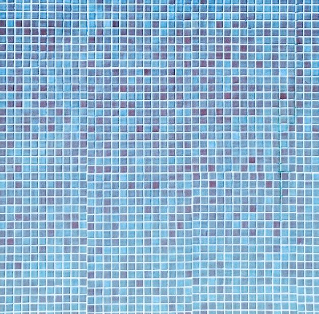 Textura de mosaico azul piscina