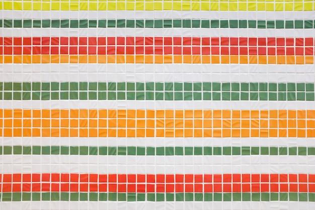 Textura de mosaico colorido decorativo. telhas coloridas, parede.