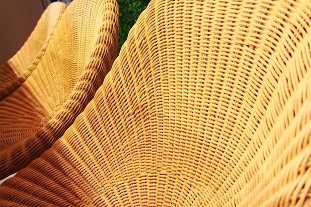 Textura de móveis de vime rattan na tailândia