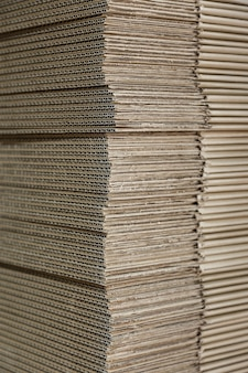Textura de muitas novas caixas de papelão para reciclagem