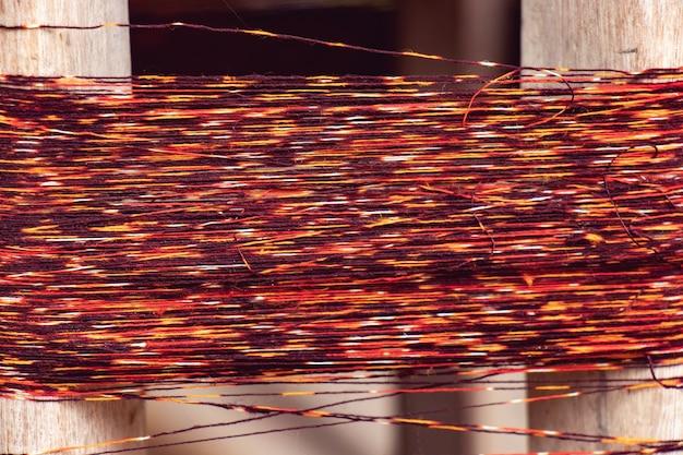 Textura de multi colorido natural fios tingidos para tecelagem na tailândia