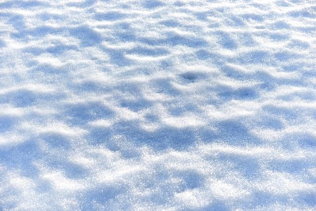 Textura de neve branca pode ser usada como plano de fundo