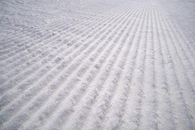 Textura de neve em uma estância de esqui