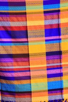 Textura de padrão colorido tecido mexicano poncho